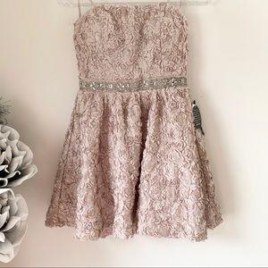 As U Wish | Floral Strapless Sequin Mini Dress 9